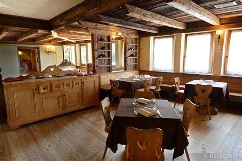 sala da pranzo rustica ristorante mulini gaarten altopiano di asiago 7 comuni