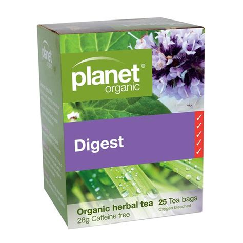 Planet Organic Detox Tea Benefits by Digest 25 Bags