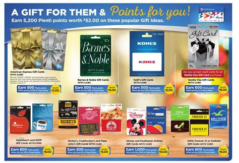 Can You Use Plenti Points To Buy Gift Cards - earn 52 in plenti points at rite aid this week when you buy these gift cards