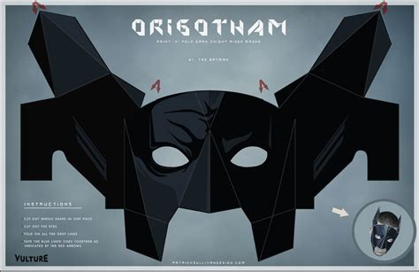 Papercraft Mask - bat batman toys and collectibles origotham