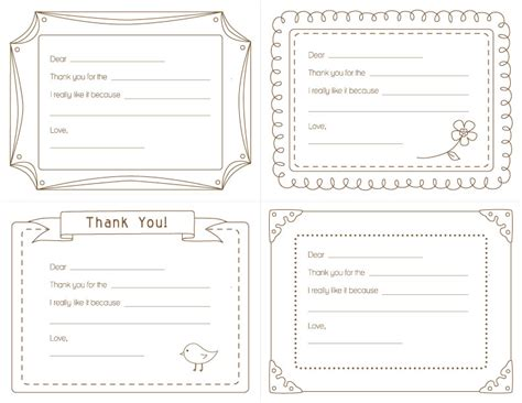 Thank You Letter Template Worksheet J Delightful Kid S Printable Thank You Notes
