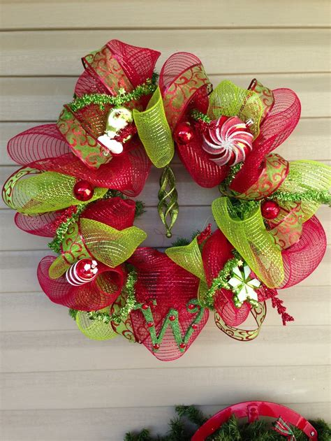 deco mesh christmas wreath holiday deco ideas pinterest deco mesh christmas wreaths and deco