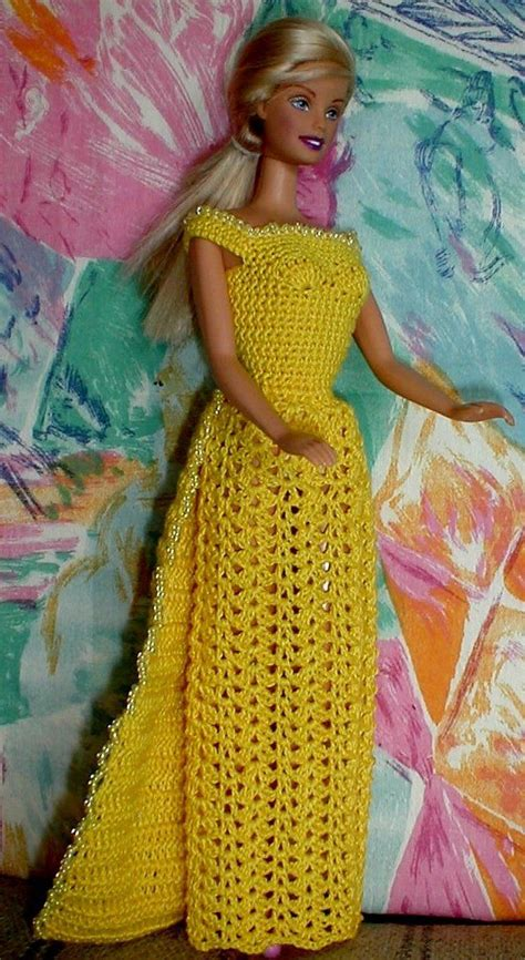 pattern yellow dress free crochet pattern for dress with beads diy doll