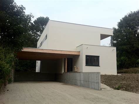 Garage Ossature Bois Toit Plat 2546 by Constructeur De Maisons 224 Ossature Bois 224 Toit Plat En