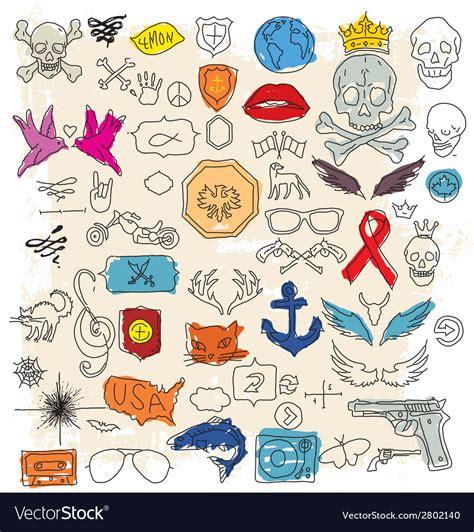 free doodle design elements doodle design elements royalty free vector image