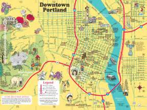 map downtown portland oregon medium sized downtown portland map