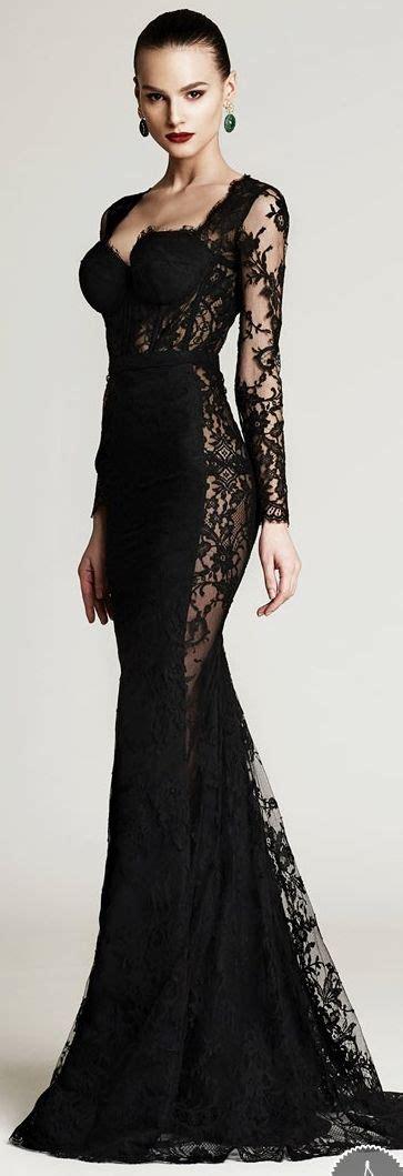 Dynamic Style Dress Black cristina savulescu aw 2015 2016 fashion style black lace dresses and gowns