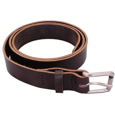 Handmade Belts Uk - hamlet mens real leather belt havanna brown colour