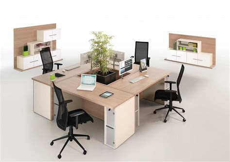 four person desk arrangement from reflex 2100mm x 2100mm