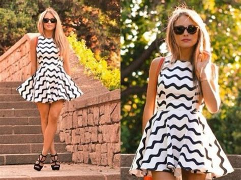 black and white zig zag pattern dress dress black white zig zag pattern black and white