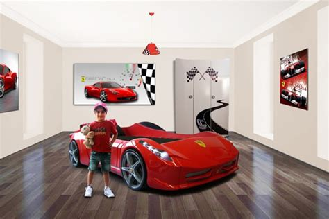 bedroom set with cars themed
