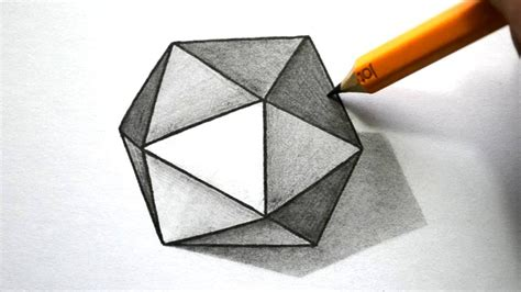 How To Make A 3d Hexagon Out Of Paper - how to draw a 3d hexagon