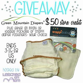 Green Mountain Gift Card - 50 green mountain diapers gift card giveaway usa ends 3 15 mama banana s adventures
