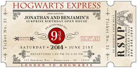 free harry potter place card template harry potter invitation templates
