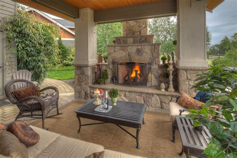 Outdoor Fireplace Screens by Chic Wicker Rocking Chair In Patio Traditional With Small