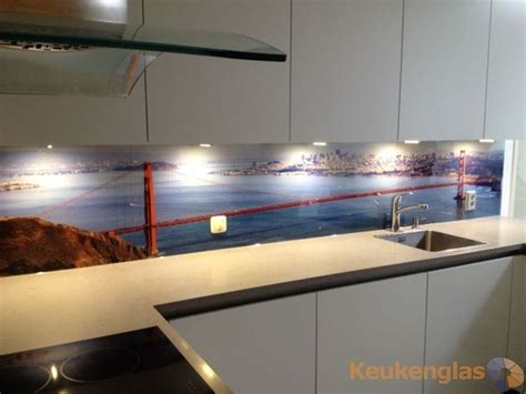 led digital kitchen backsplash glaswand keuken met afbeelding backsplash with prints a