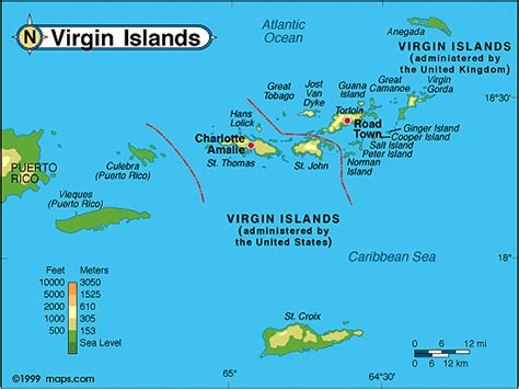 british virgin islands physical map  mapscom  maps