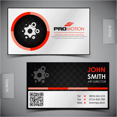 modern business cards front and back template vector free