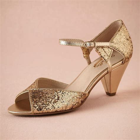 Gold Glitter Spark Wedding Shoe Handmade Pumps Leather