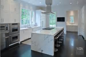 Lights For Kitchen Islands waterfall island modern kitchen mdd architects