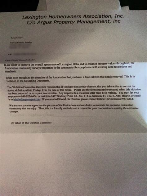 Response Letter To Hoa Notice Florida Hoa Issues Letter On Fan Made Tardis Nerdbastards