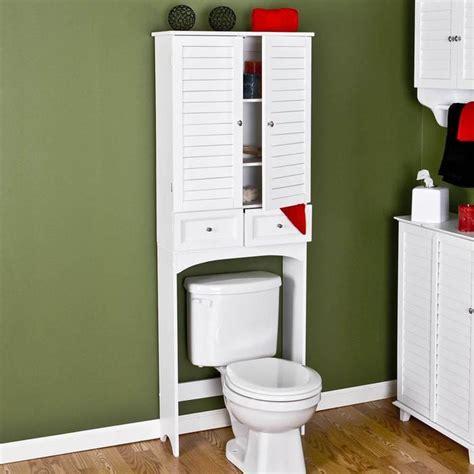 white bathroom cabinet over toilet