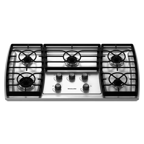 Kitchenaid 36 Inch Gas Cooktop kitchenaid kgck366vss 36 quot gas cooktop sears outlet