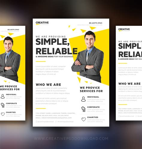 marketing flyer template free creative genie