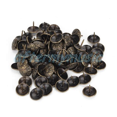 upholstery pins tacks 100x elegant bronze upholstery nails tacks studs pins home
