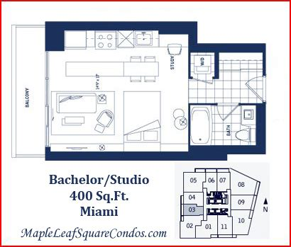 400 sq ft studio maple leaf square floor plans