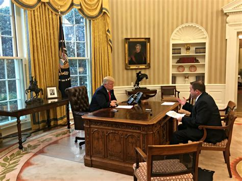 trump redesign oval office exclusive president trump previews congressional address