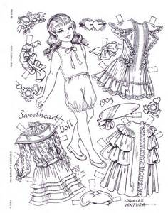 more black and white for our gift book of paper dolls to