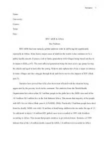 Hiv Essay Paper by Mla Style Research Paper Hiv Aids In Africa
