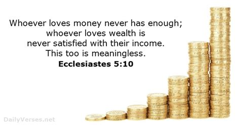 What Does Vanity In Ecclesiastes by Ecclesiastes 5 10 Bible Verse Of The Day Dailyverses Net