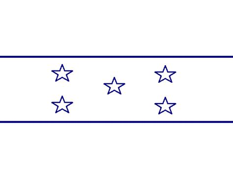 la bandera de honduras para colorear centro psicopedag 243 gico eduktiva