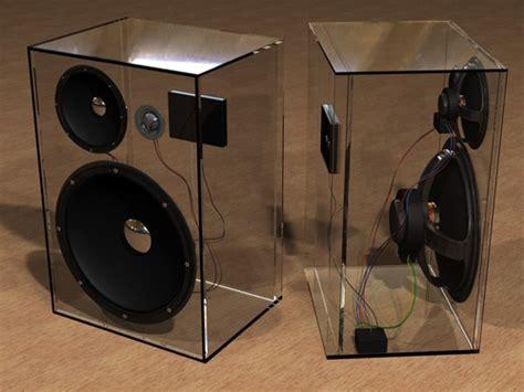 Box Woofer Plexiglass Speaker Box Speakers Speakers