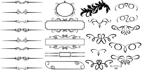 line templates for photoshop 13 photoshop vector line borders images free vector