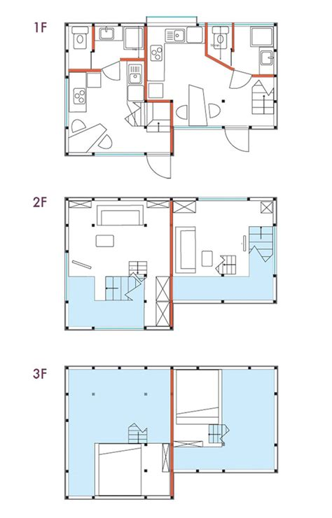 guide to japanese apartments floor plans photos and designatedcw revives dilapidated yokohama house into two