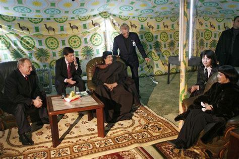 tenda gheddafi sous la tente de kadhafi le point