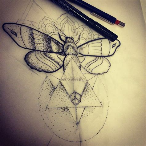 geometric tattoo design 35 moth tattoos designs