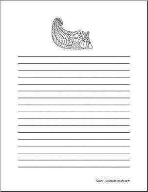 thanksgiving lined writing paper writing paper thanksgiving elementary lined paper