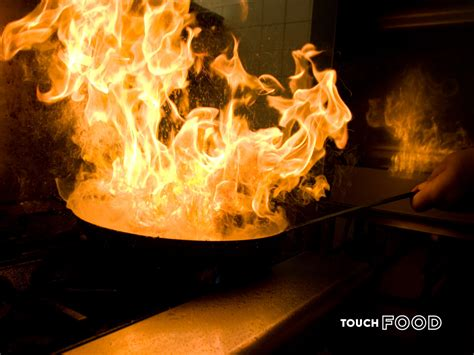 Kitchen Wallpaper kitchen flambe love the details in the flames the drops