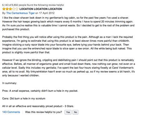 amazon customer reviews veet for men hair removal photos some choice amazon reviews for veet for men hair removal