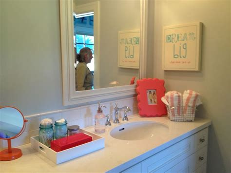 turquoise and coral bathroom turquoise coral kids bathroom bathrooms pinterest