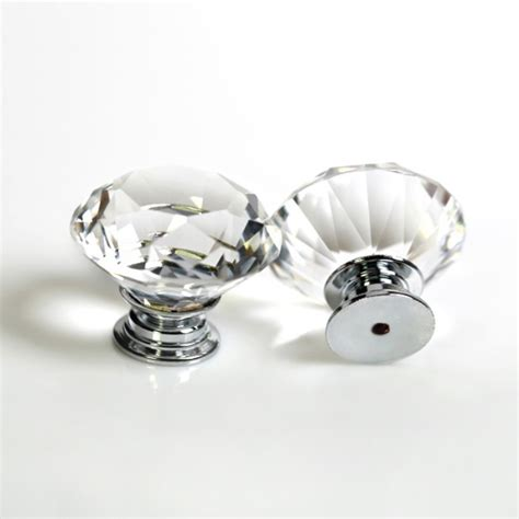 Glass Closet Door Knobs Free Shipping Shaped Clear Glass Cabinet Pull Drawer Handle Kitchen Door Home