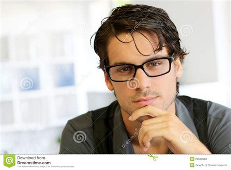 imagenes lentes nike man wearing trendy glasses royalty free stock photos