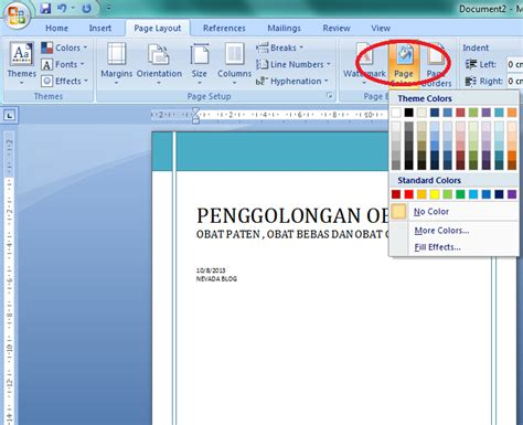 layout buku di ms word cara membuat cover buku mengunakan ms word 2007 neva melinda