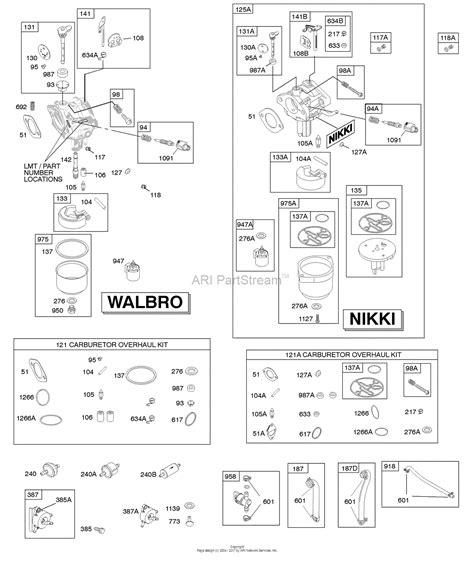 briggs carb diagram briggs and stratton 31q777 0112 e1 parts diagram for