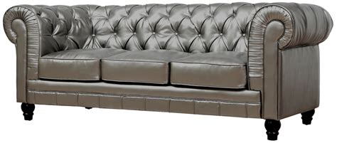 zahara silver leather sofa from tov tov s24 coleman
