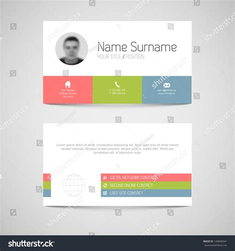 user made card templates modern simple light business card template stock vector